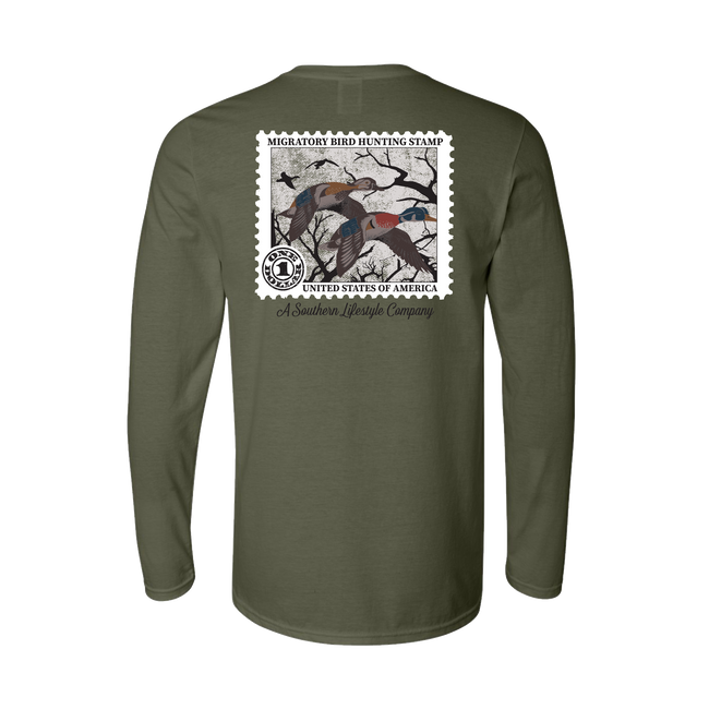 Duck Stamp - LS Tee - A Southern Lifestyle Co.