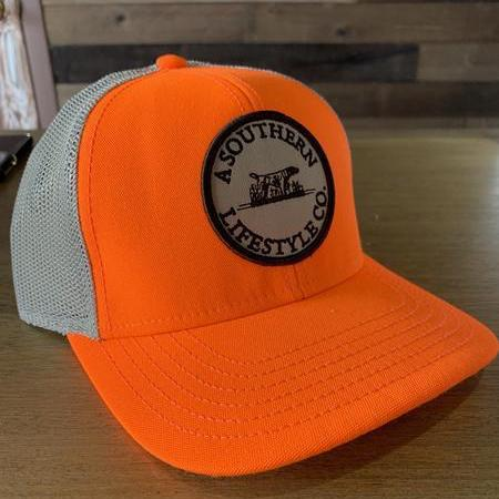 Orange Trucker Hat - A Southern Lifestyle Co.