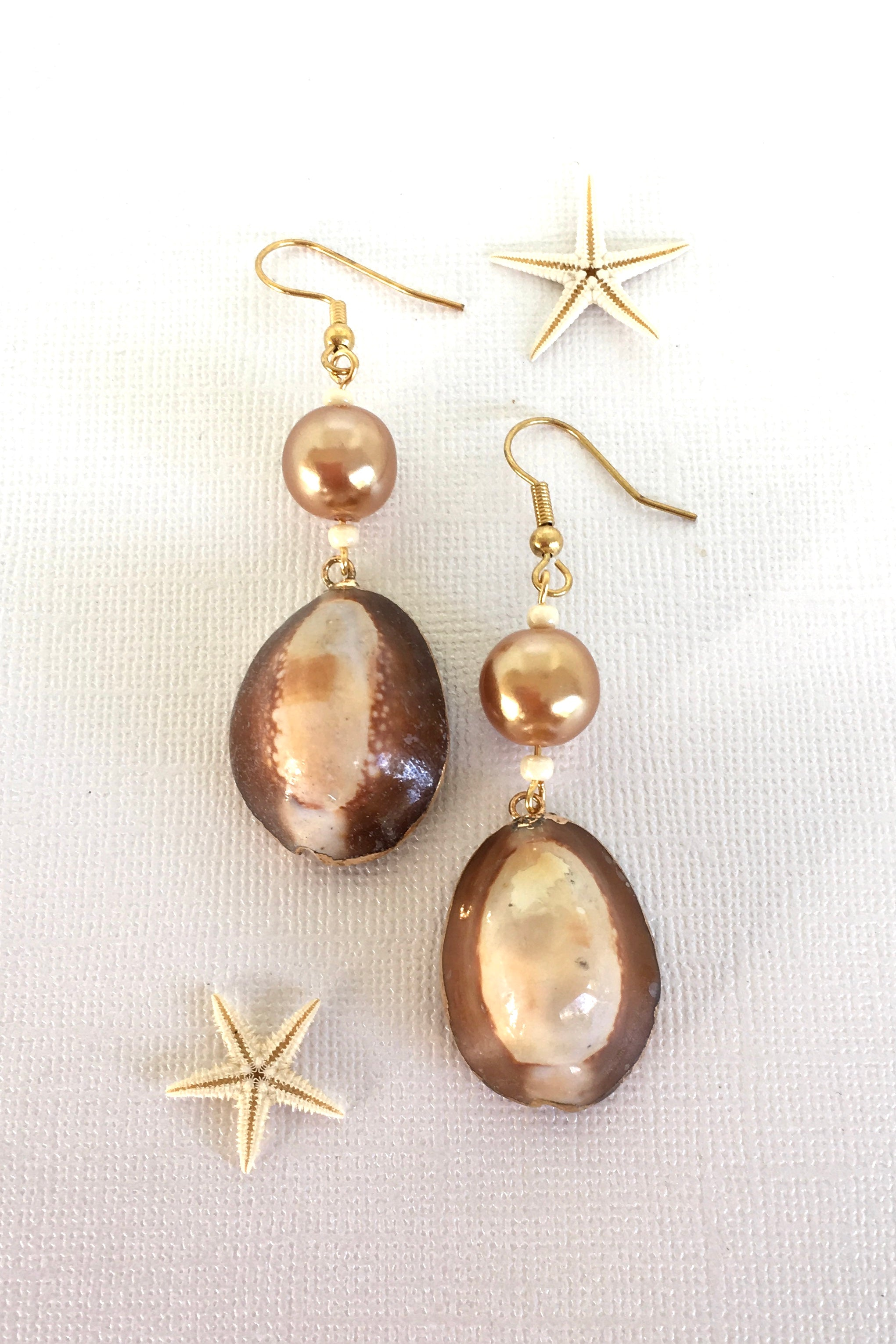 Earrings High Tide Cowrie Shell Large