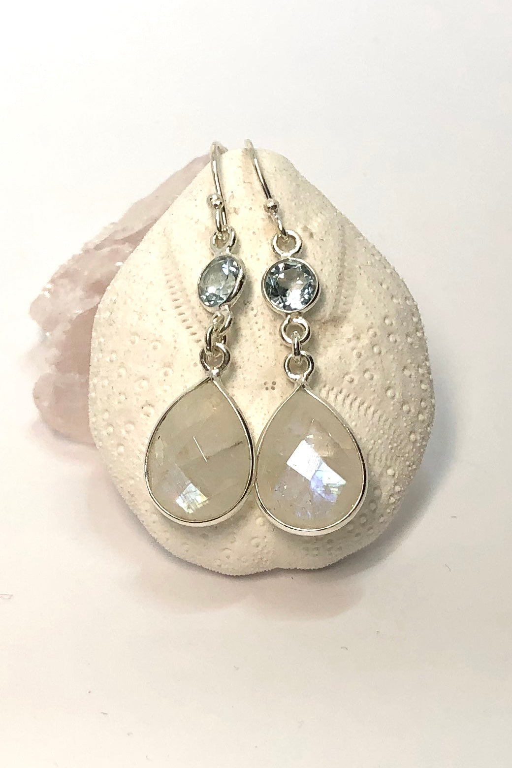 our new Oracle Earrings Moon Shine add a pretty spot of shine and sparkle to your day or night.