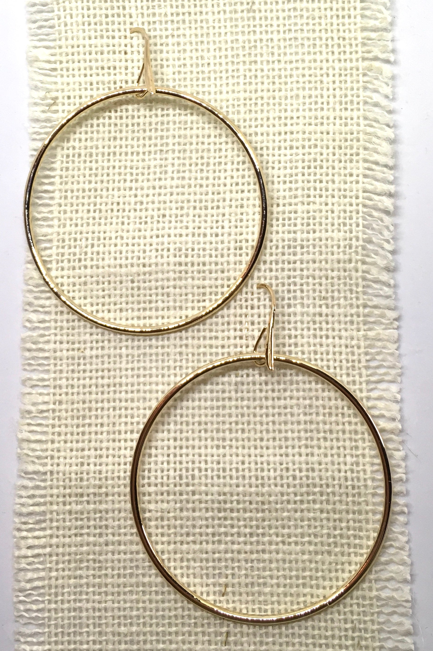 Earrings Hoop Elegant Gold
