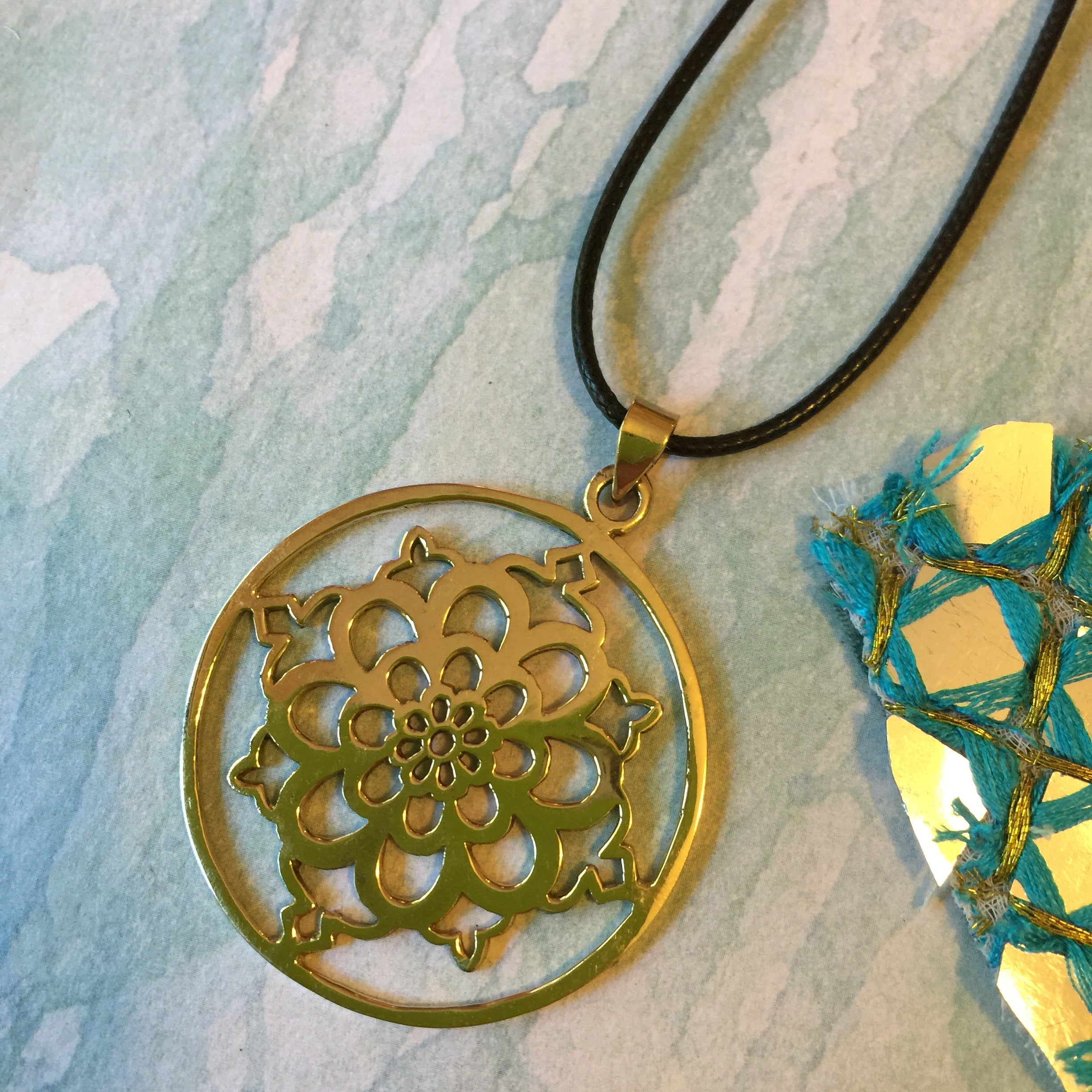 necklace clothing mishakaudi mandala the gold co herbivore plated by