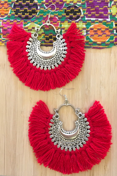 Earrings Gypsy Fiesta Red