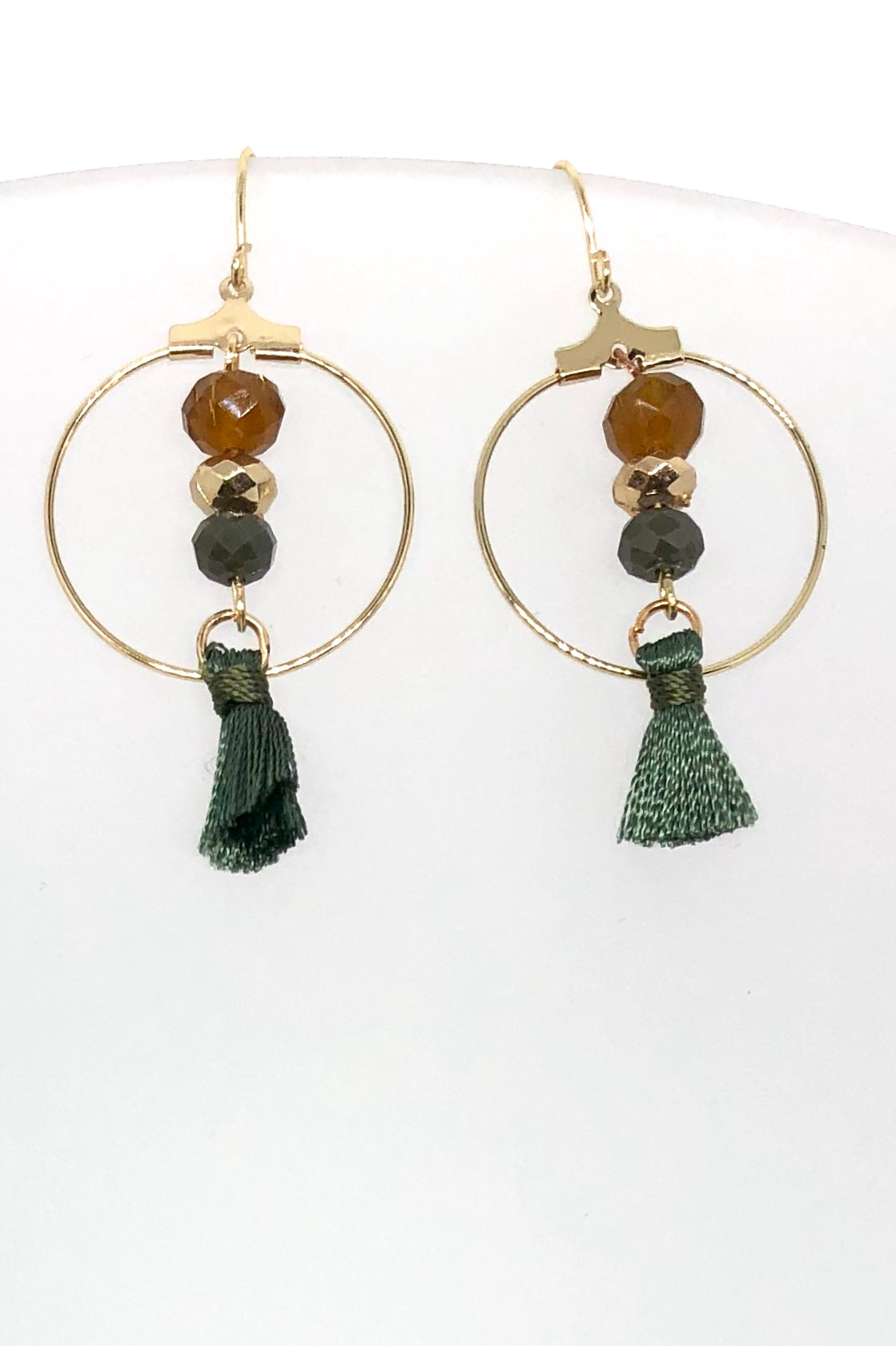 Earrings Meta Tassel Hoop