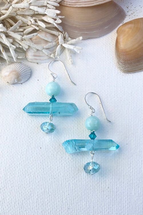Earrings Serendipity Blue Rock Tremblant