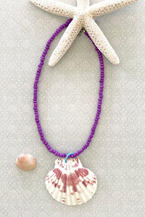Necklace Summer Shell Purple