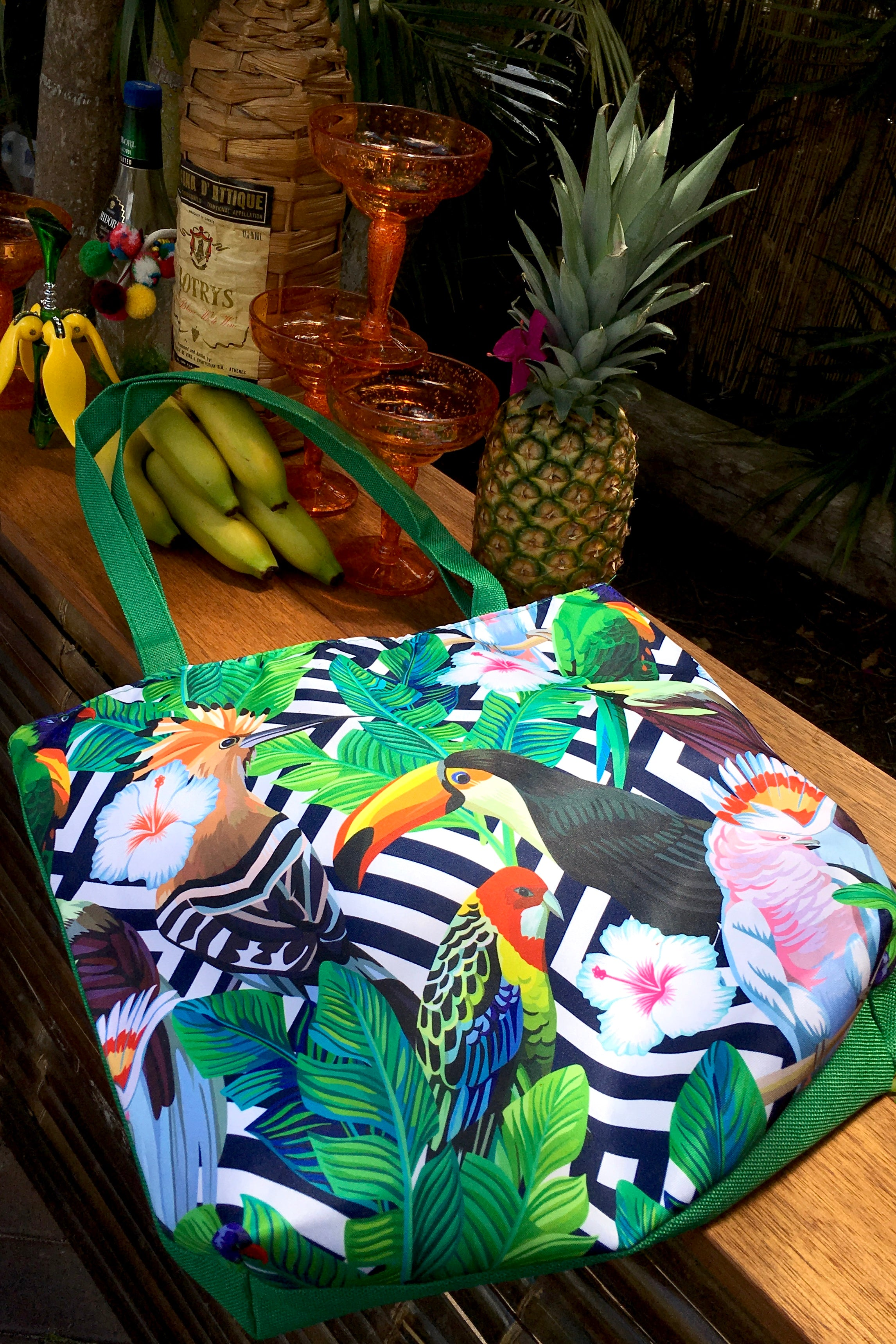 Tote Bag Tropical Birds