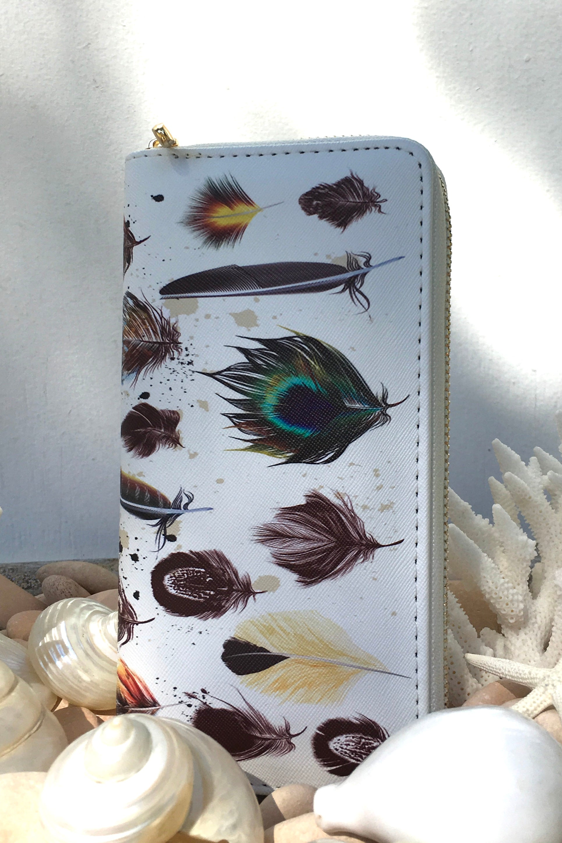 Yeah Wallet Feathers Print