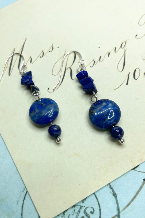 Earrings Samara Lapis Lazuli Beads