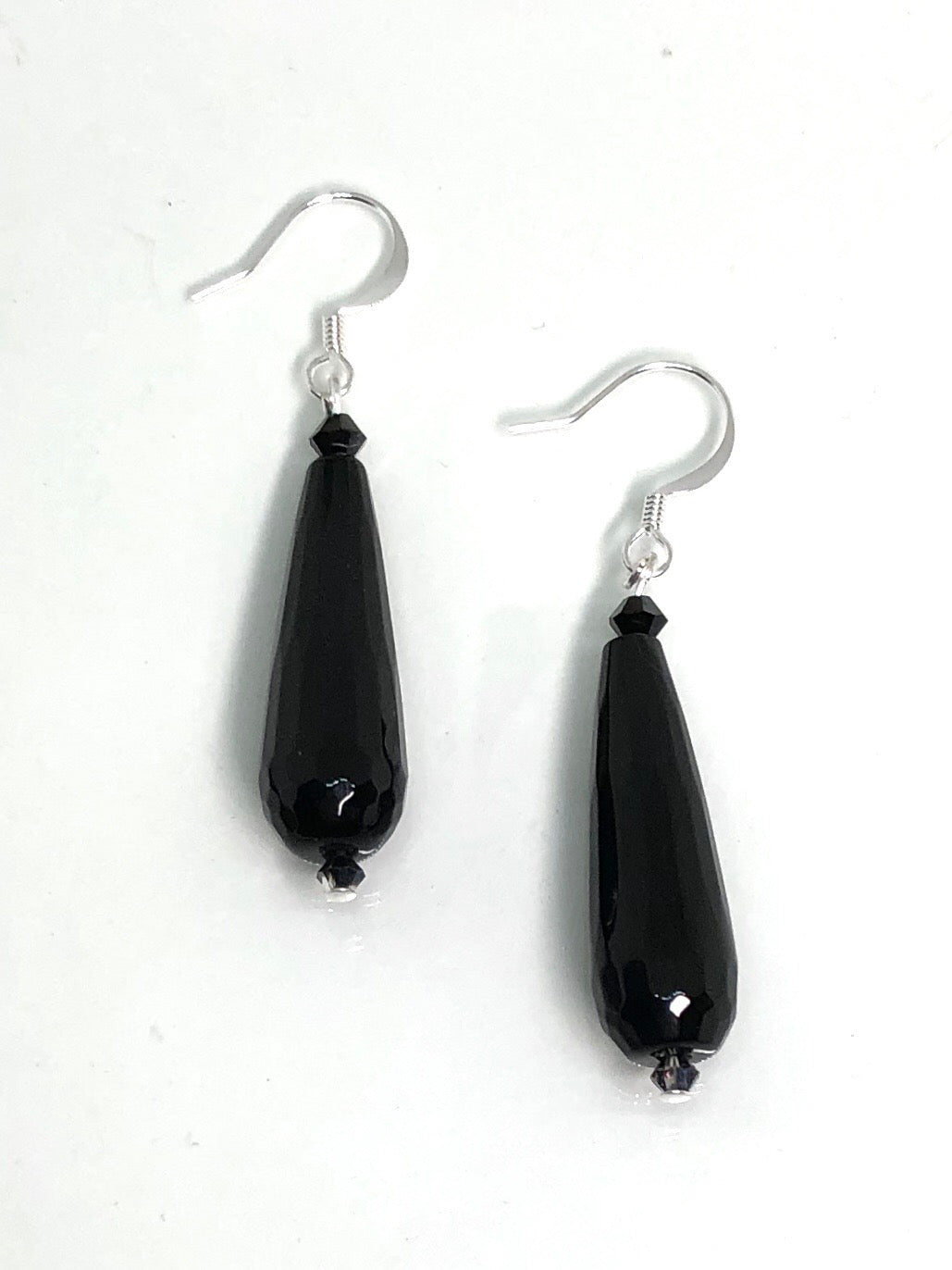 teardrop style statement earrings are made from natural stone