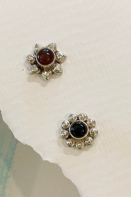 Echo Stud Earrings Silver Mismatched 6