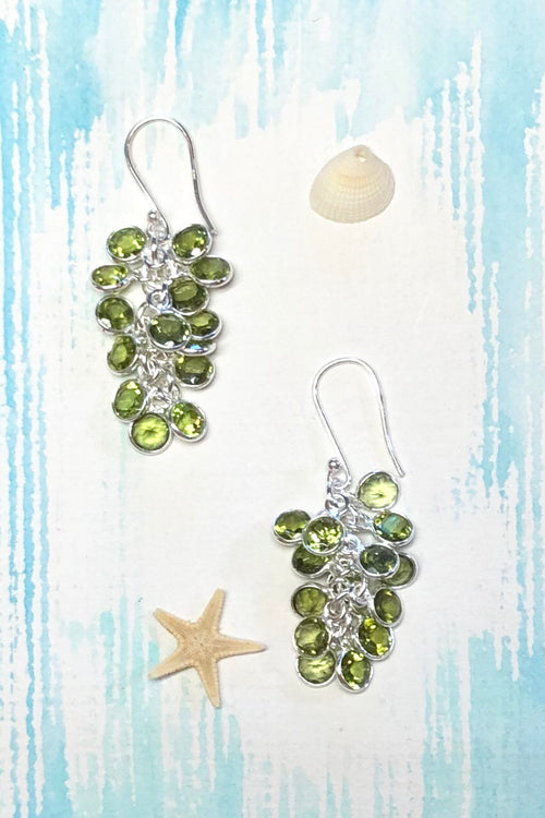 Oracle Earrings Gem Harvest Peridot in 925 Silver