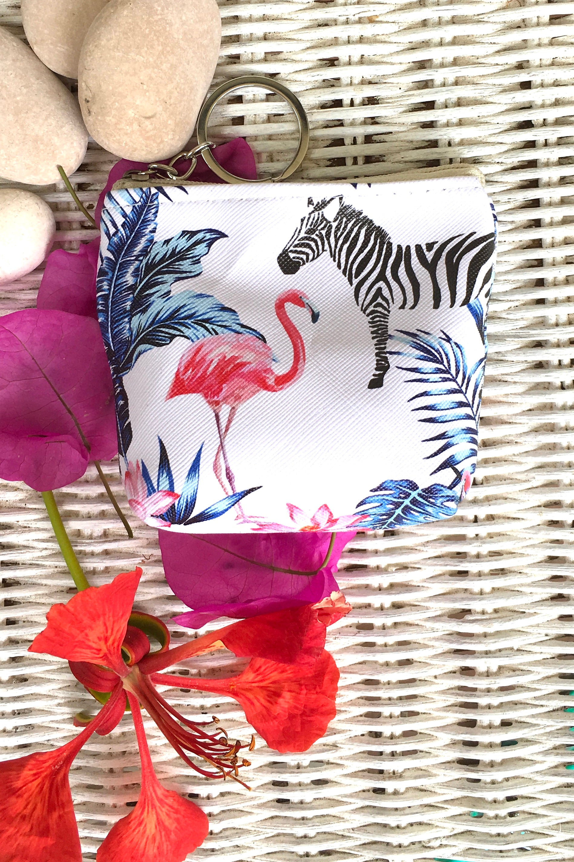 Yeah Mini Coin Purse Fancy Flamingos in Four Colours, flamingo style