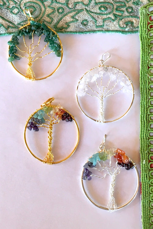 Pendant Tree of Life Gems
