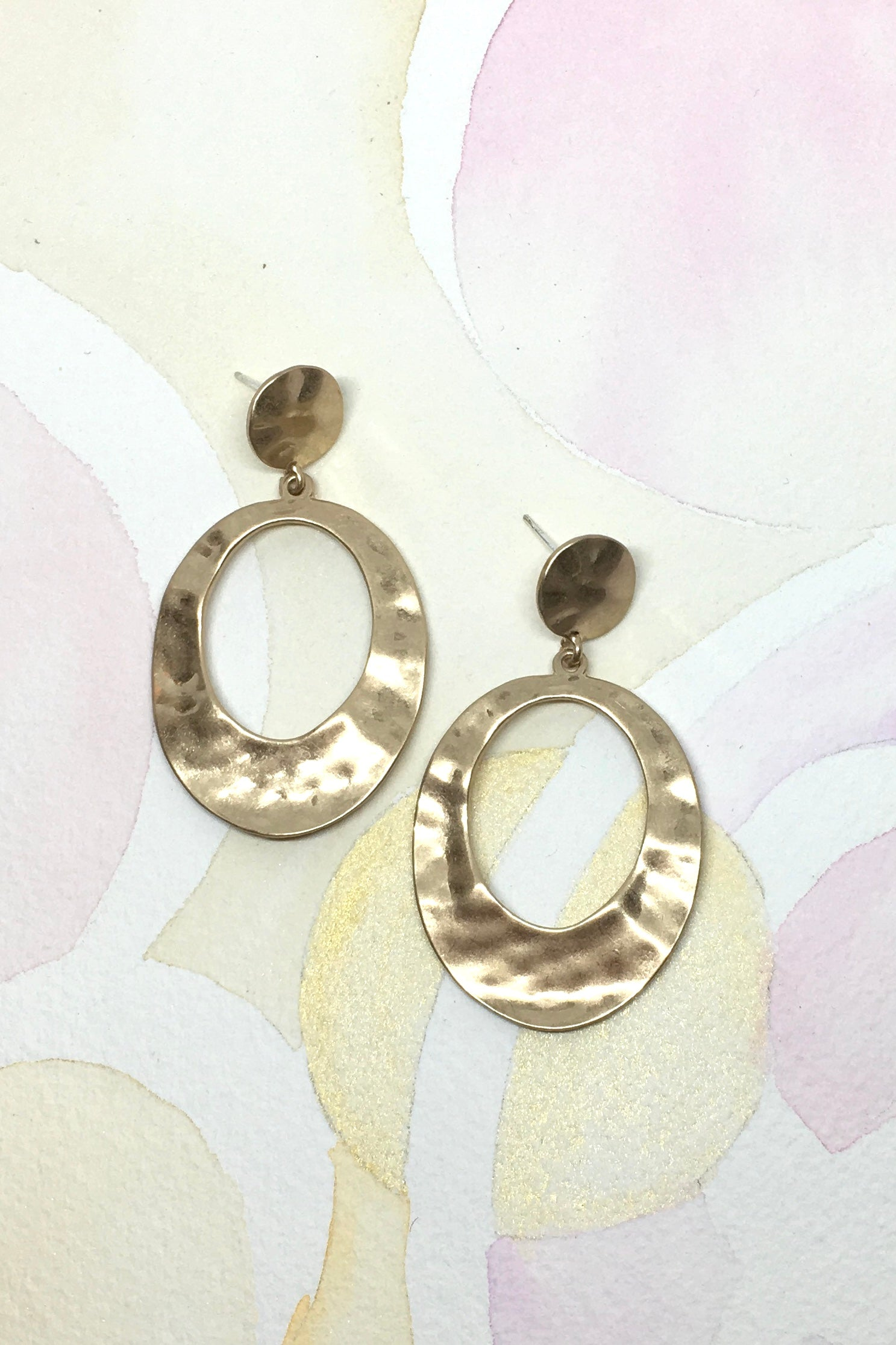 Earrings Hoops Stippled