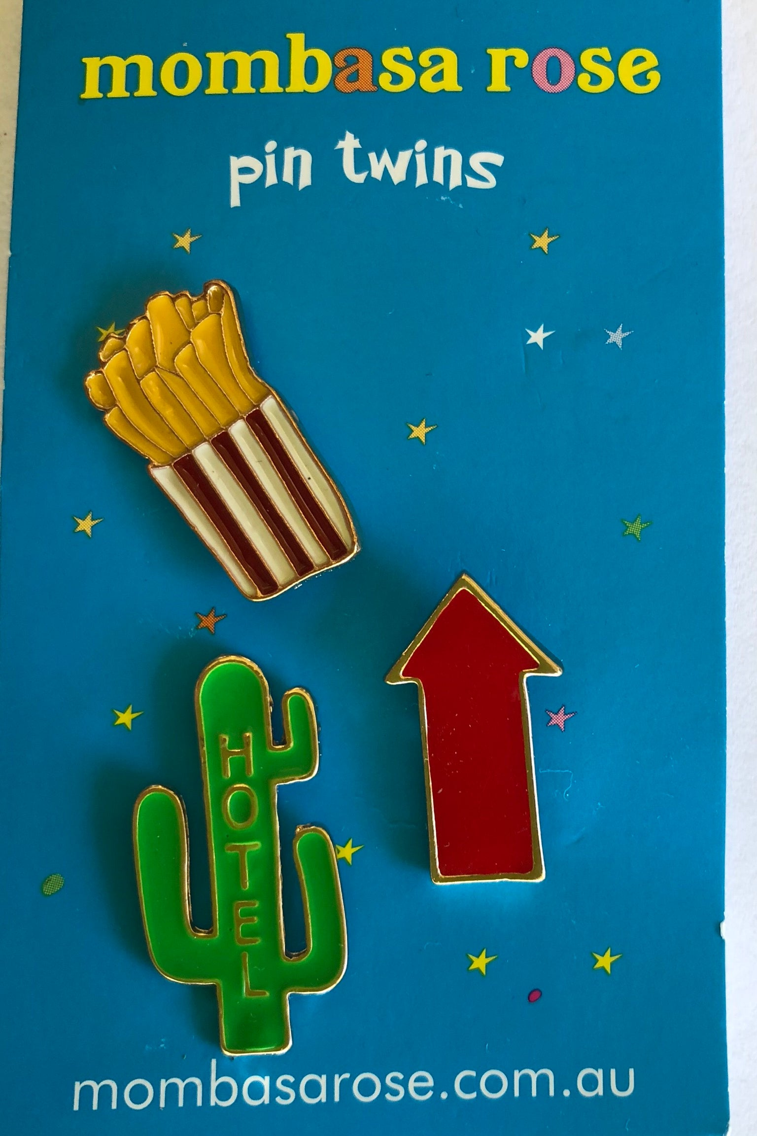 Happy Pins Fast Food in two styles