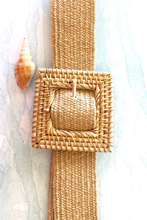 Belt Rattan Stretch Natural