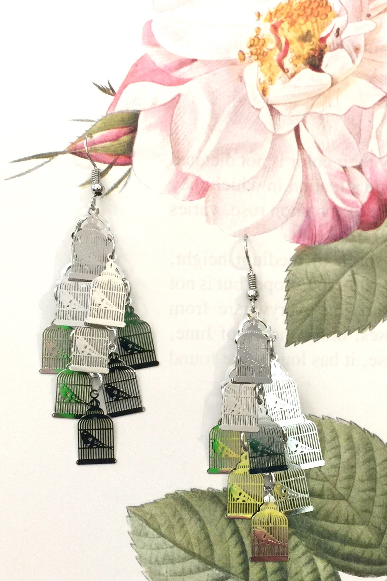 Earrings Birdcage Silver
