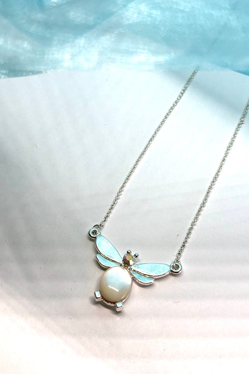 Necklace Pearly Bee