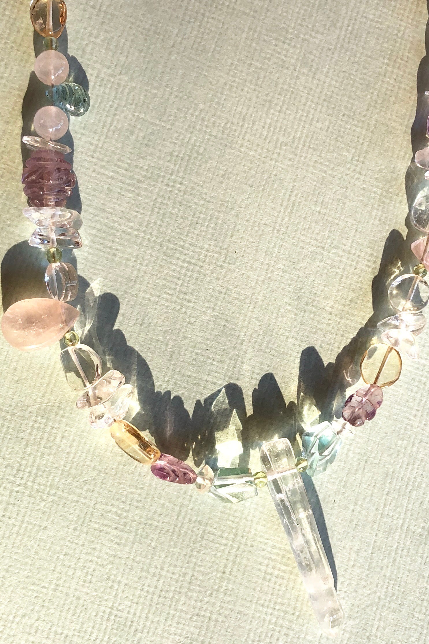 Tideline Crystal and Gemstone Necklace Three