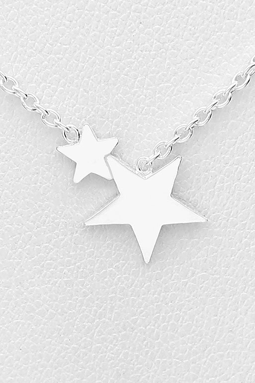 Silver necklace with tiny stars