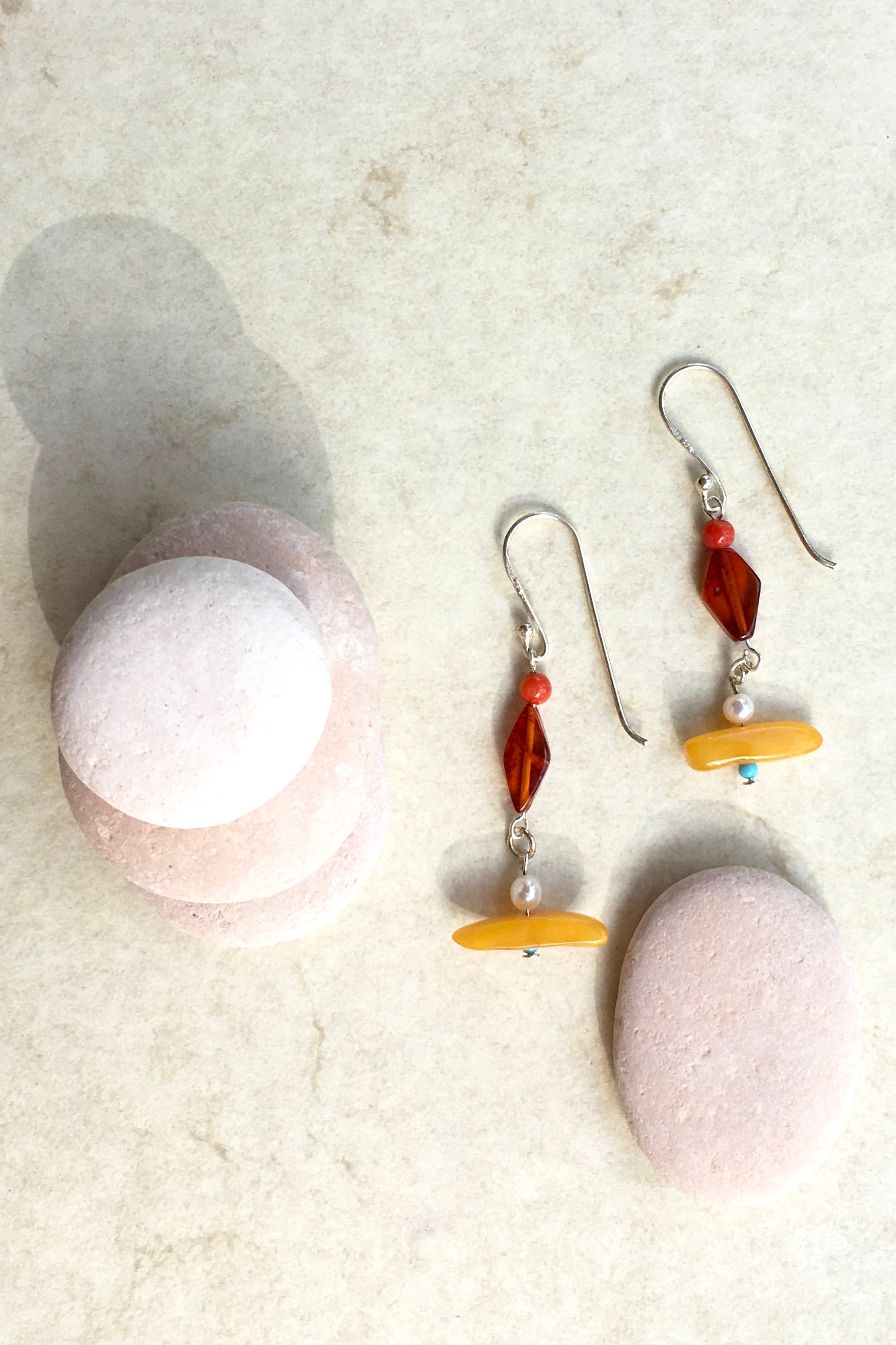 Earrings Samara Amber and Silver 4