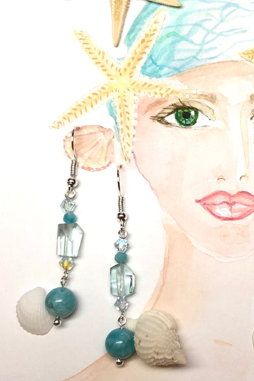 Earrings Serendipity Amazonite and Fluorite