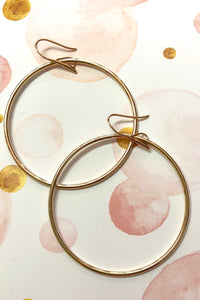 Earrings Hoop Elegant Gold, chic round summer hoop earring