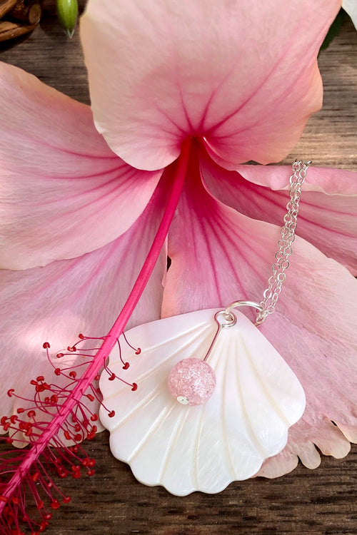 Pendant Cay Caribbean Scallop Shell Pink