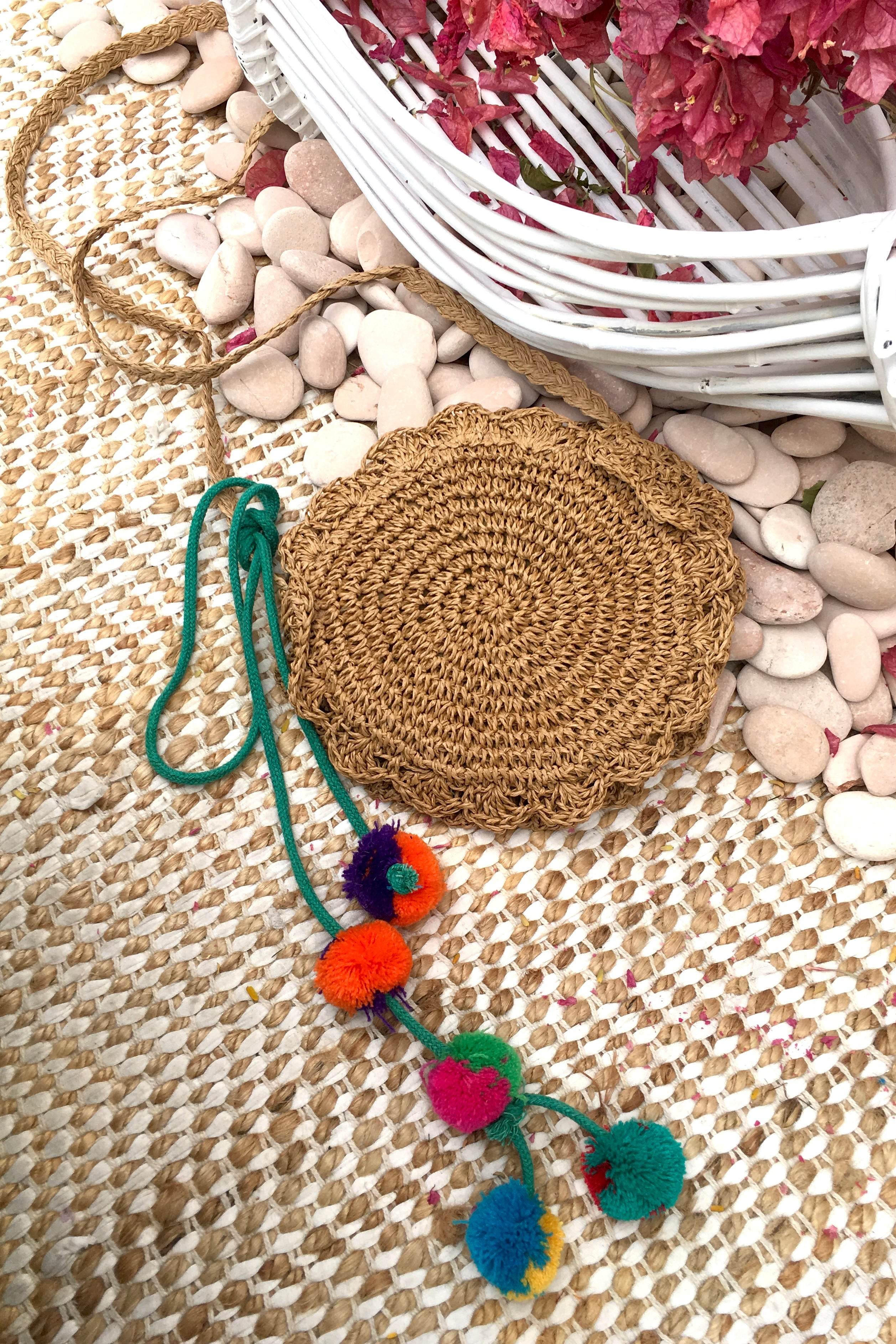 Bag Lillie Little Round in biscuit colour