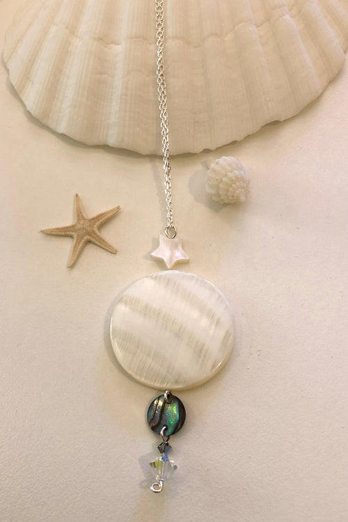 Necklace Stars and Shells with Paua