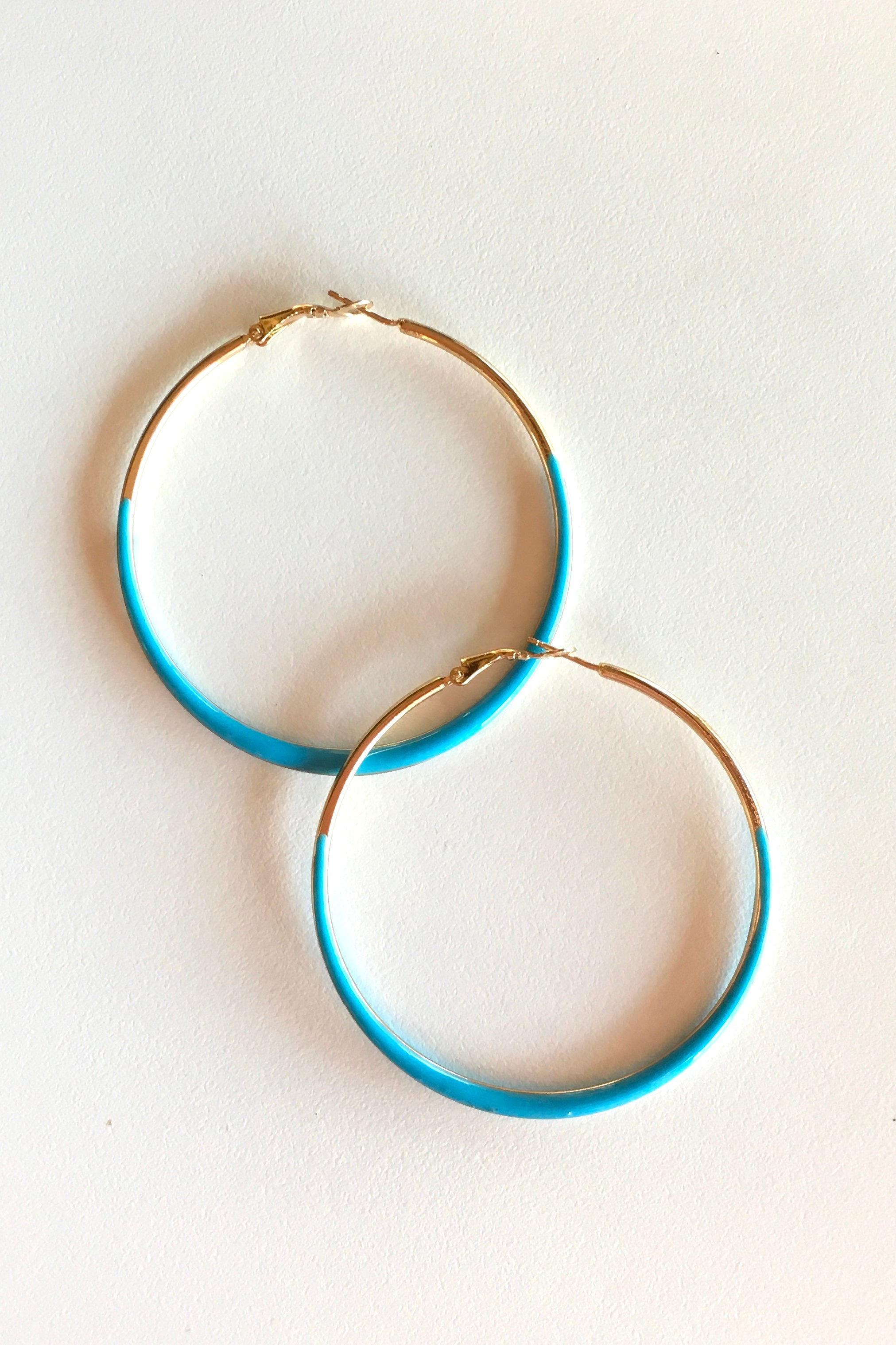 Earring Hoop Turquoise Medium