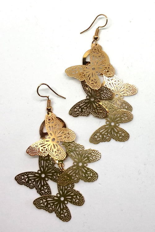 Earrings Fluttery Butterfly Drop Medium size