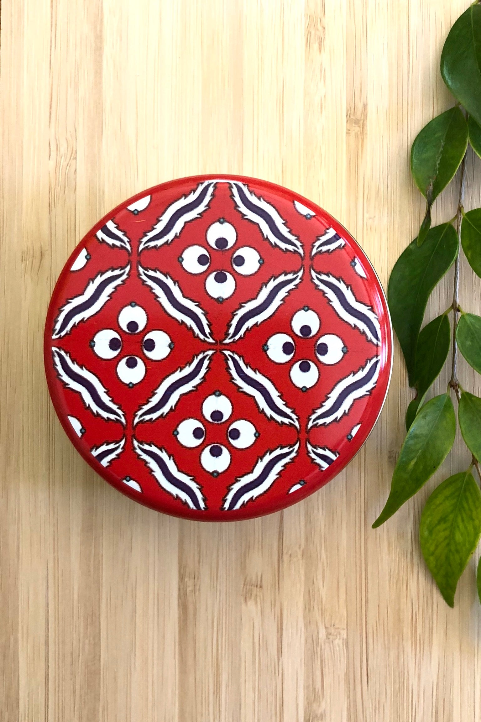 Olive Soap in a Turkish Tile Tin, Red Pomegranate Design