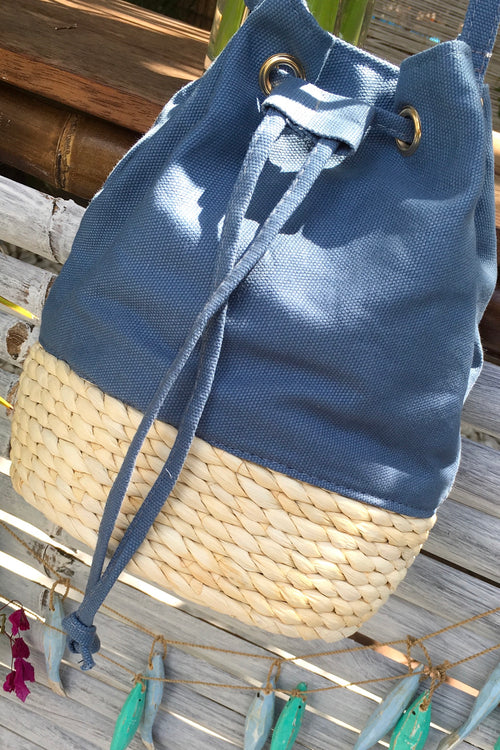 Bag Lillie Canvas Bucket Blue
