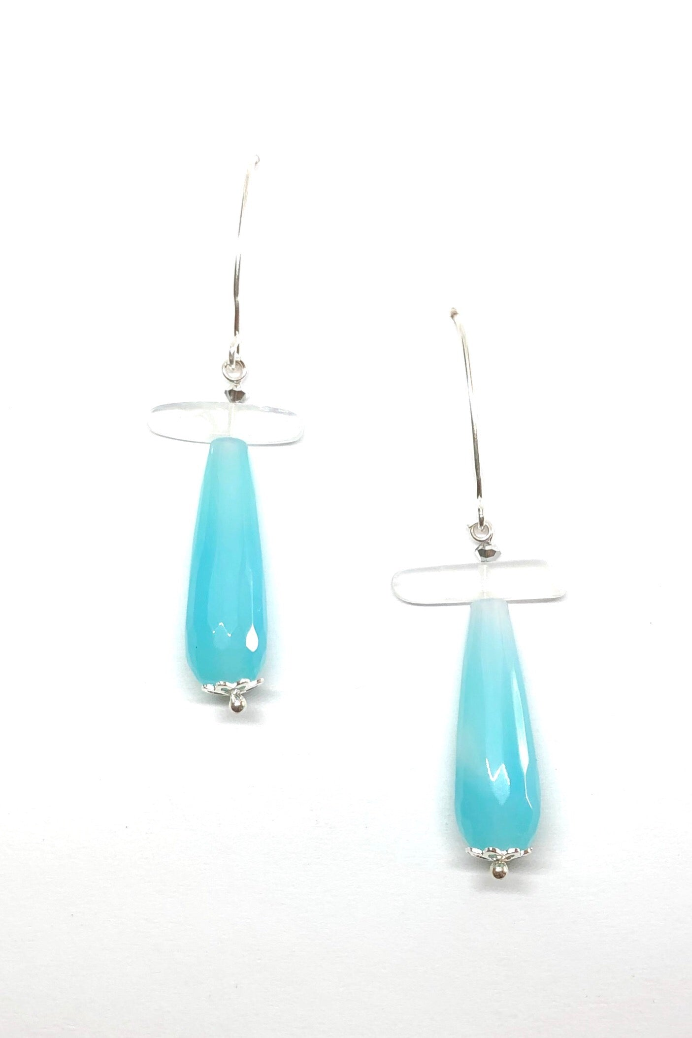 Earrings Rock Droplet Sea Blue