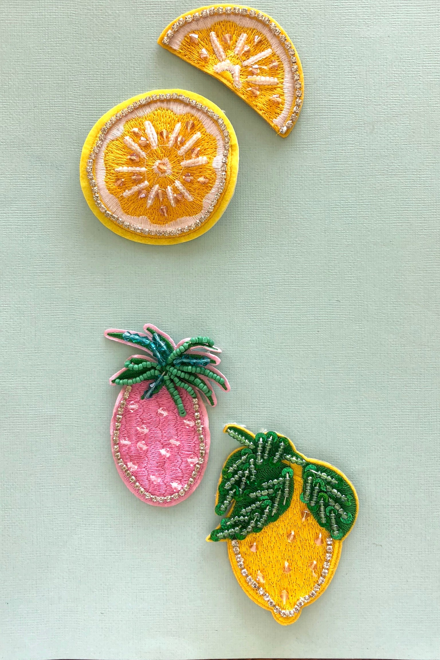 Iron on Motif Patches Fruity