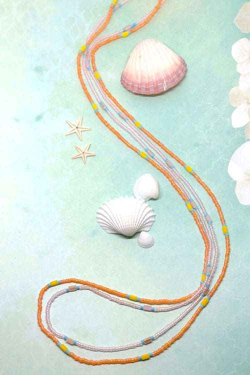 Necklace Sea Beads Strands Peach Pink