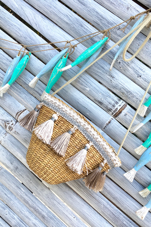 Bag Lillie Grass Bucket Tassel Neutrals