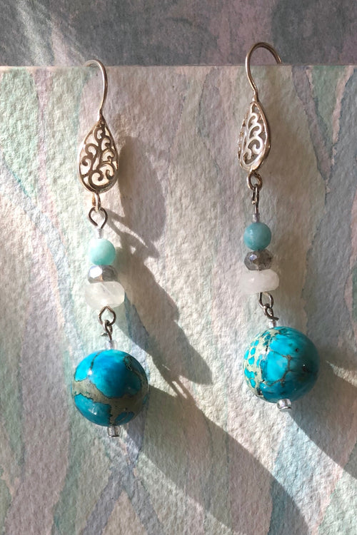 Earrings Serendipity Turquoise Fairy