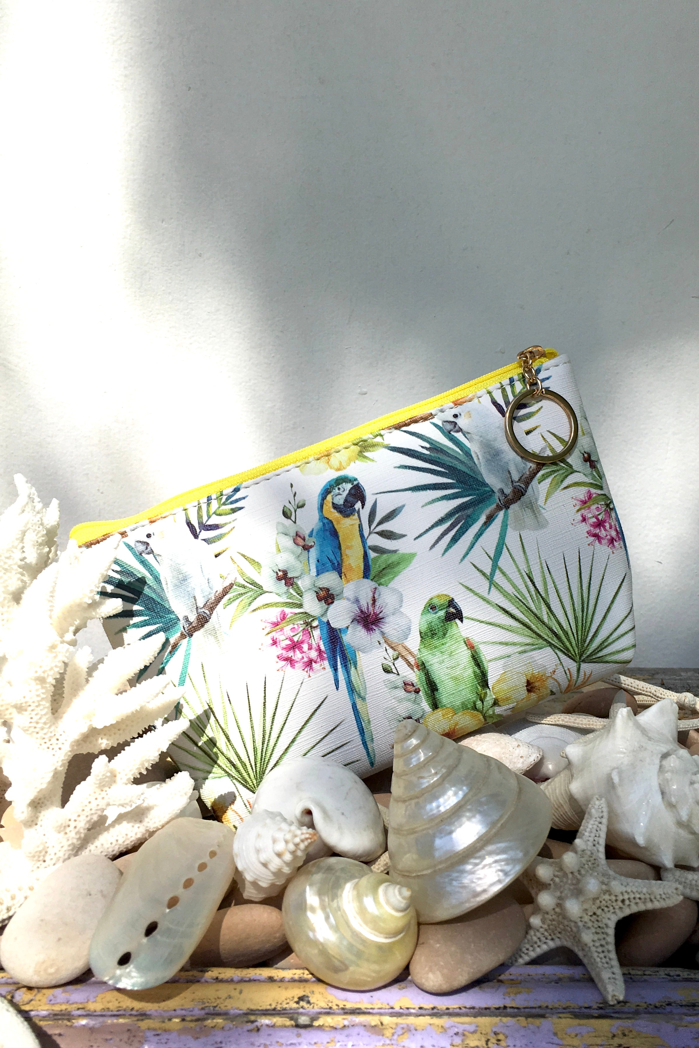 Yeah Cosmetic Purse Jungle Parrots