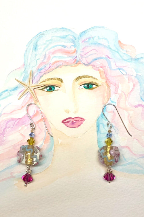 Earrings Serendipity Venetian Pink