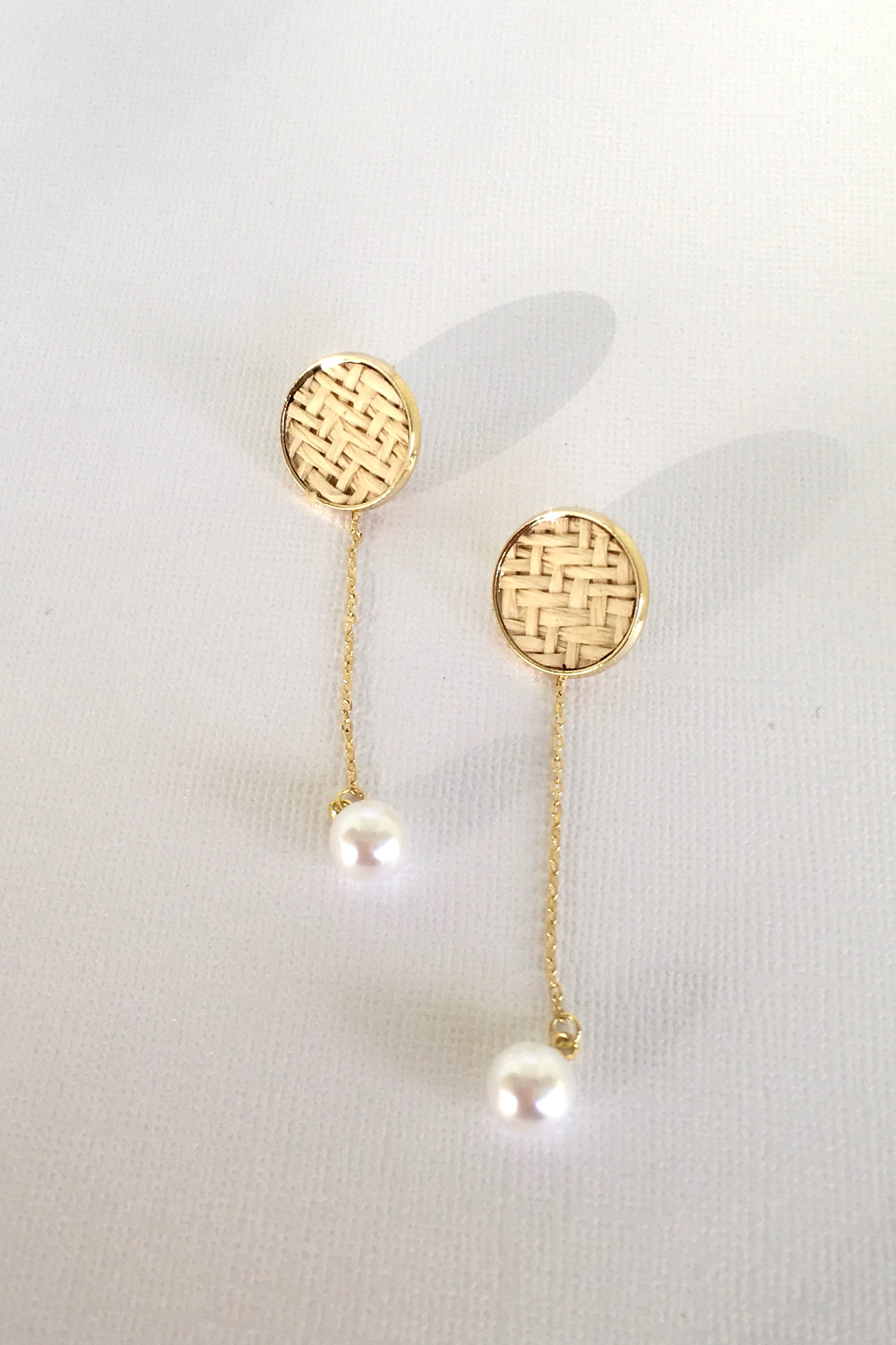 Earring Summer Weave Pearl Drop