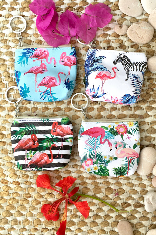 Yeah Mini Coin Purse Fancy Flamingos in Four Colours