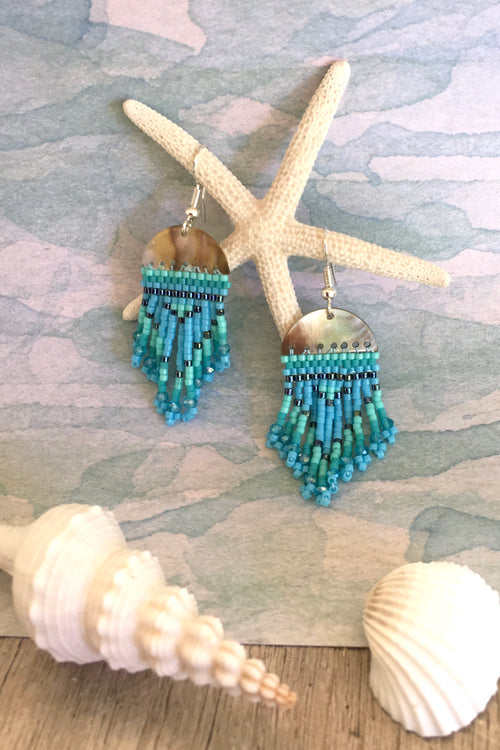 Earrings Rising Moon Turquoise