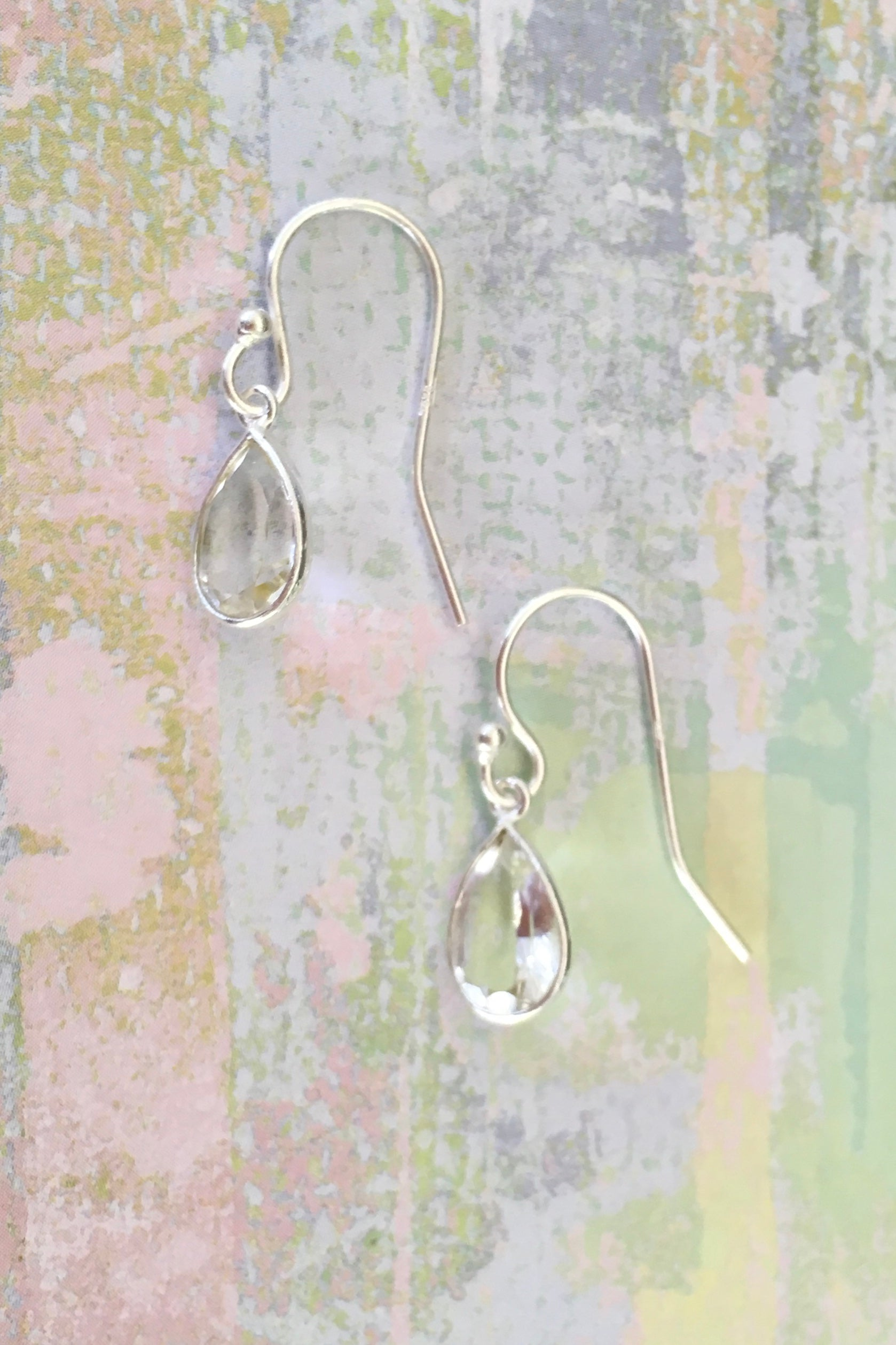 Oracle Clear Quartz and Silver  Mini Drop Earrings