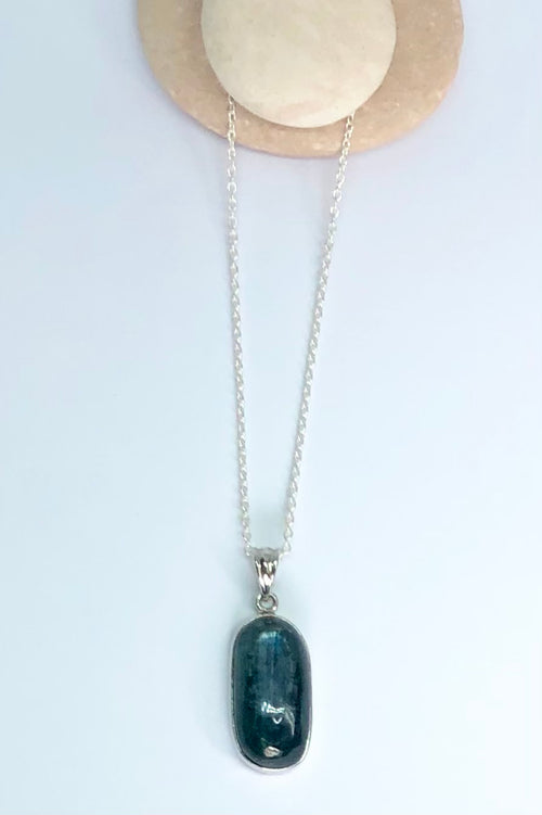 Pendant of Kyanite on a Silver Chain 4