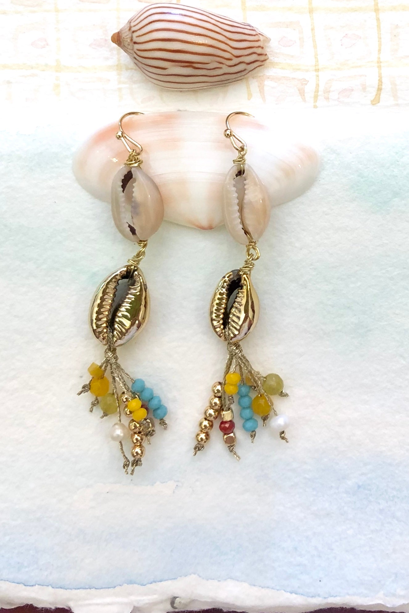 Earrings Cowrie Colours