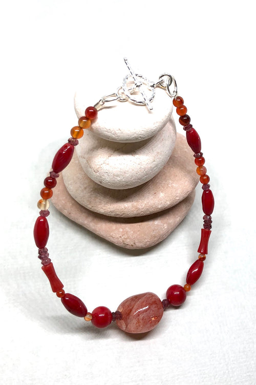 Bracelet Cay Fire Natural Gemstone