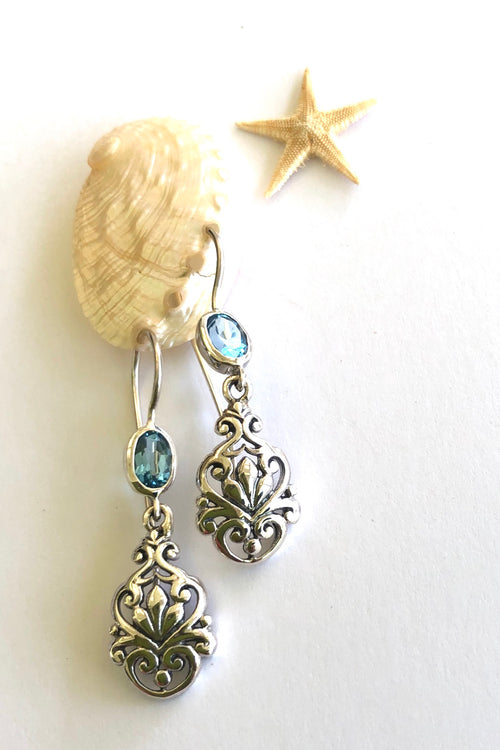 Oracle Earrings Topaz Fleur